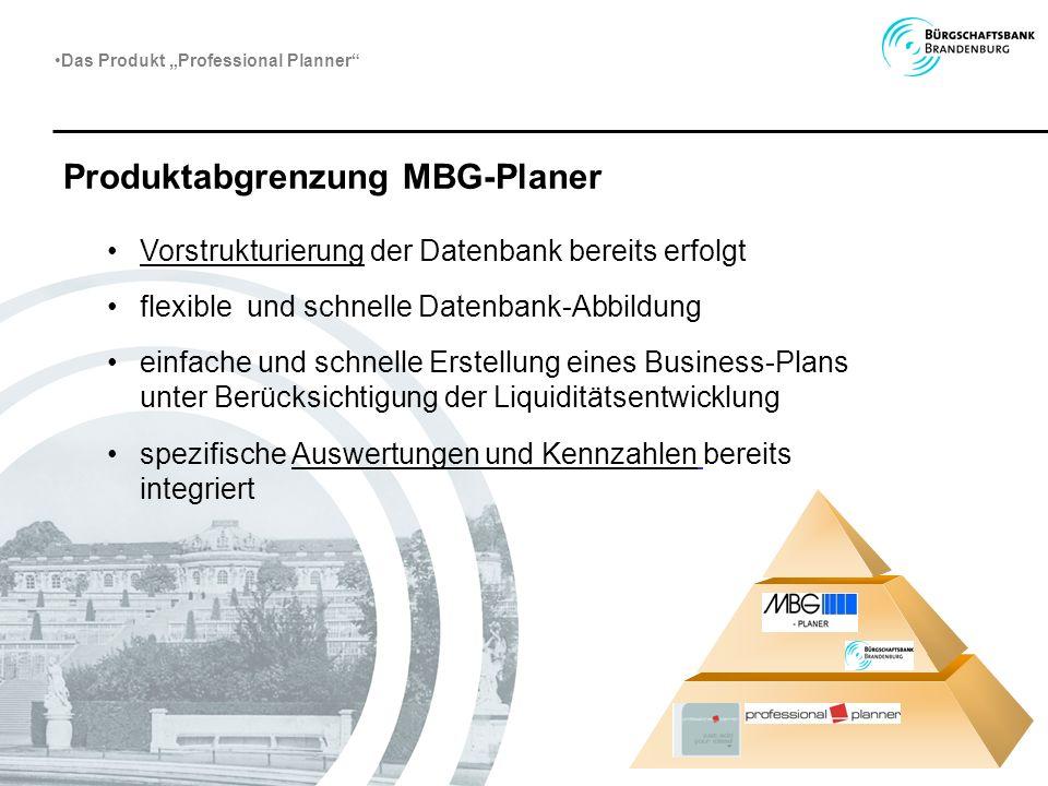 Produktabgrenzung MBG-Planer