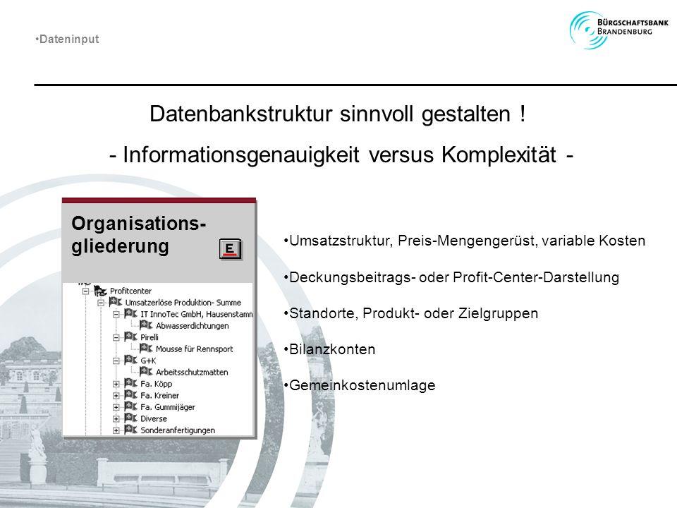 Datenbankstruktur sinnvoll gestalten !
