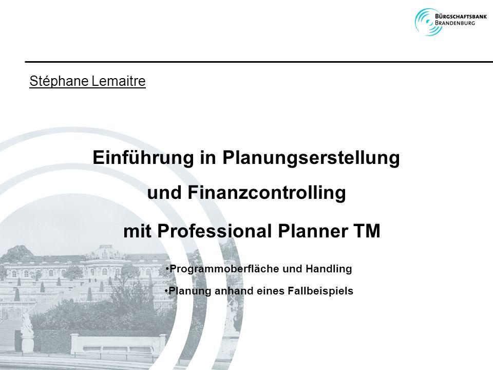 Einführung in Planungserstellung und Finanzcontrolling