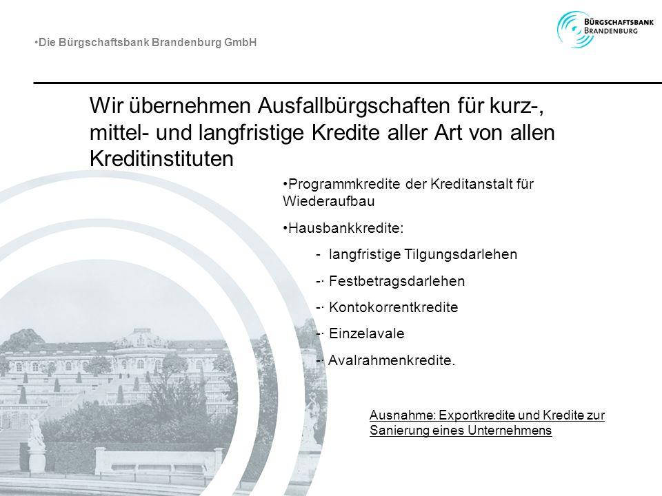 Die Bürgschaftsbank Brandenburg GmbH