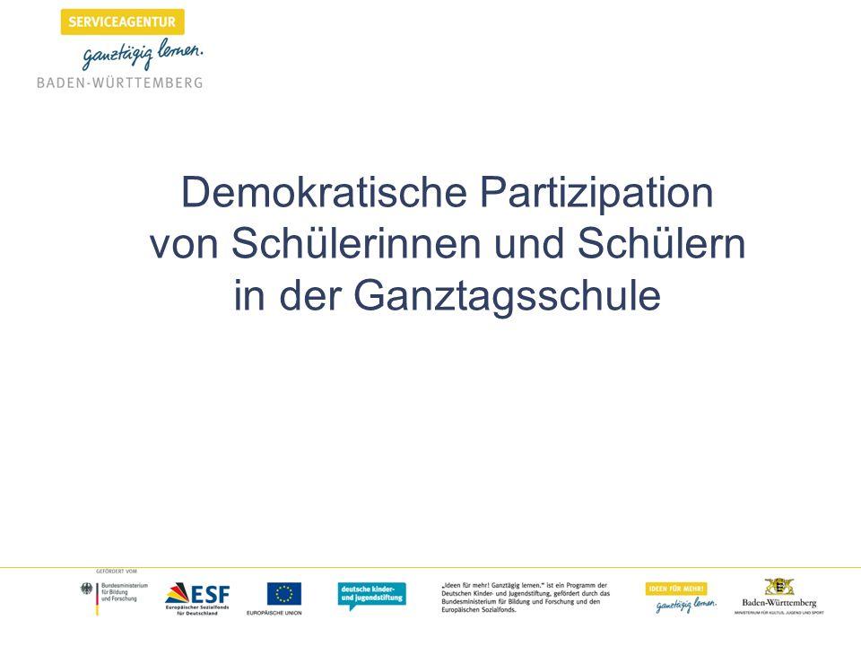 Demokratische Partizipation von Schülerinnen und Schülern in der Ganztagsschule