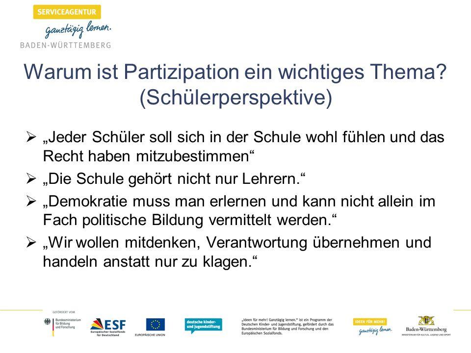 Warum ist Partizipation ein wichtiges Thema (Schülerperspektive)