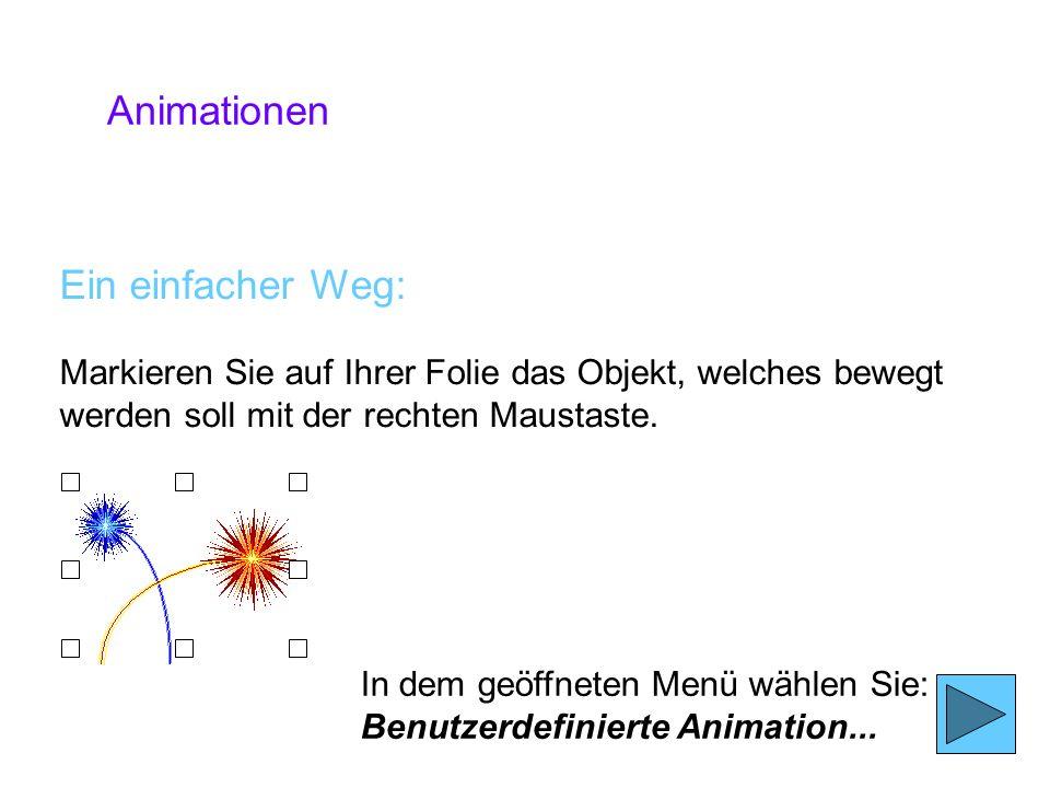 Animationen Ein einfacher Weg: