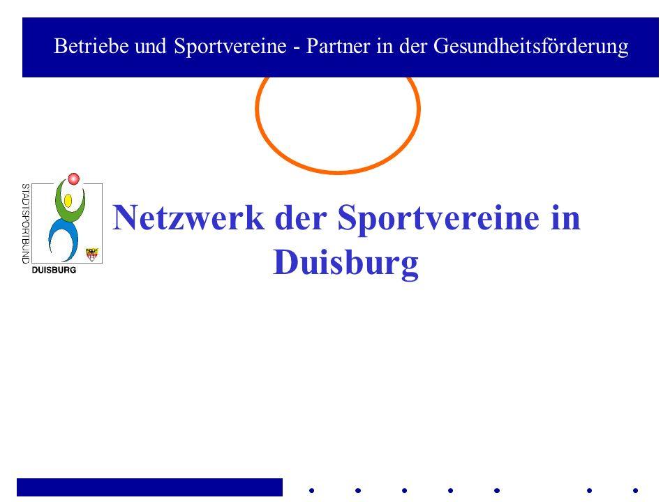Netzwerk der Sportvereine in Duisburg