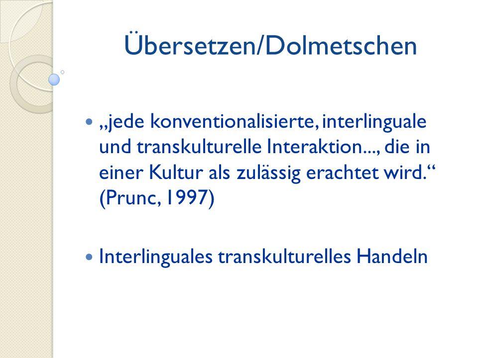 Übersetzen/Dolmetschen