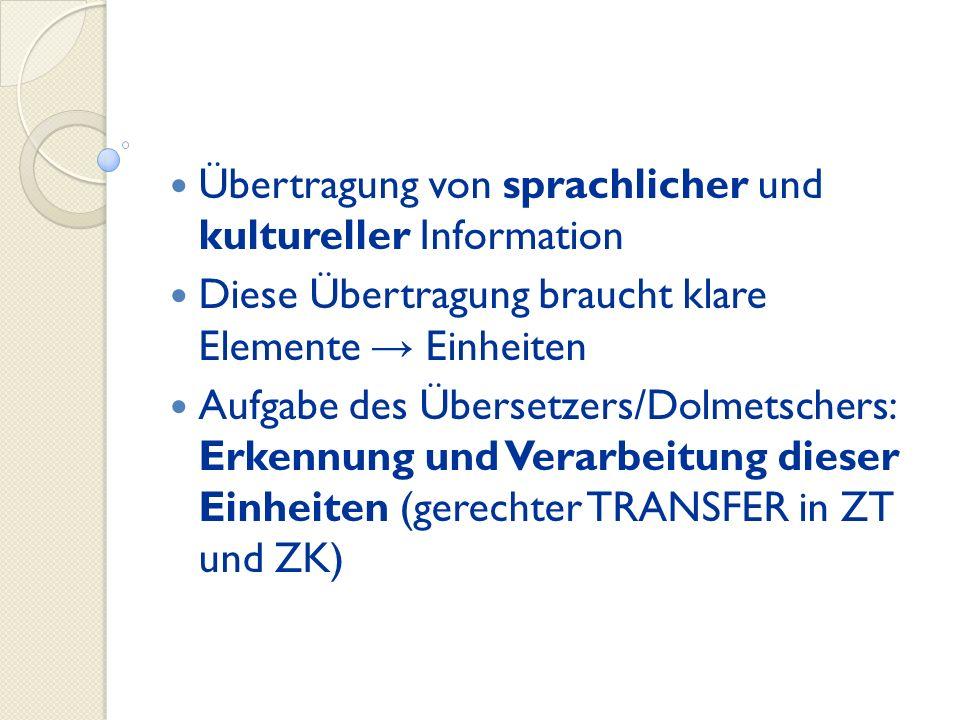 Übertragung von sprachlicher und kultureller Information