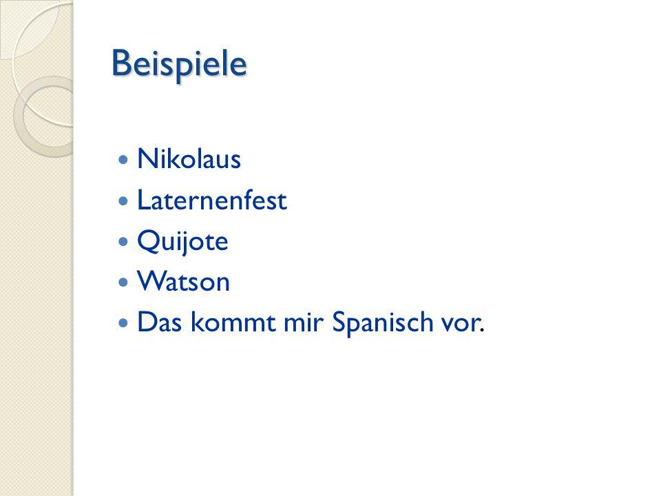 Beispiele Nikolaus Laternenfest Quijote Watson