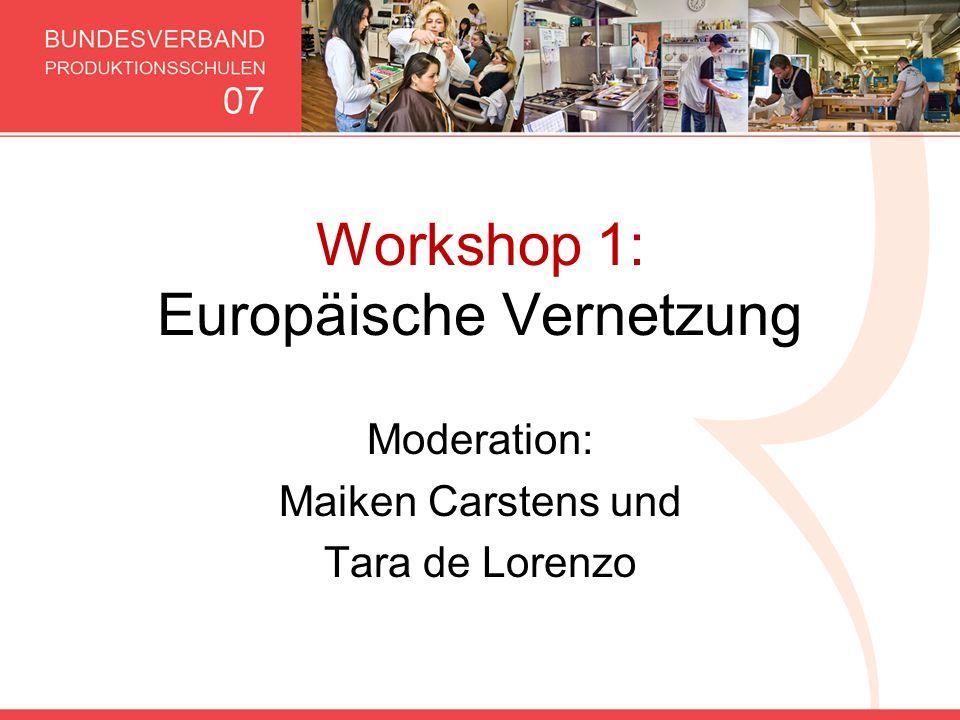 Workshop 1: Europäische Vernetzung