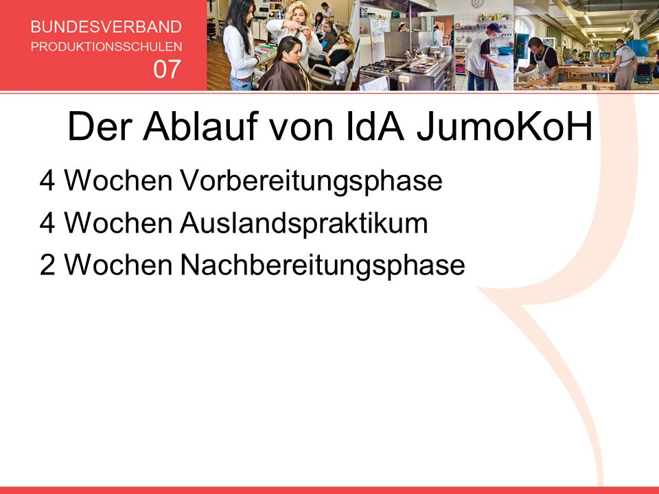 Der Ablauf von IdA JumoKoH