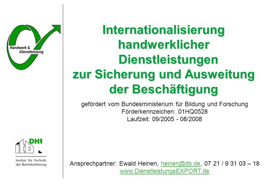 Internationalisierung handwerklicher Dienstleistungen