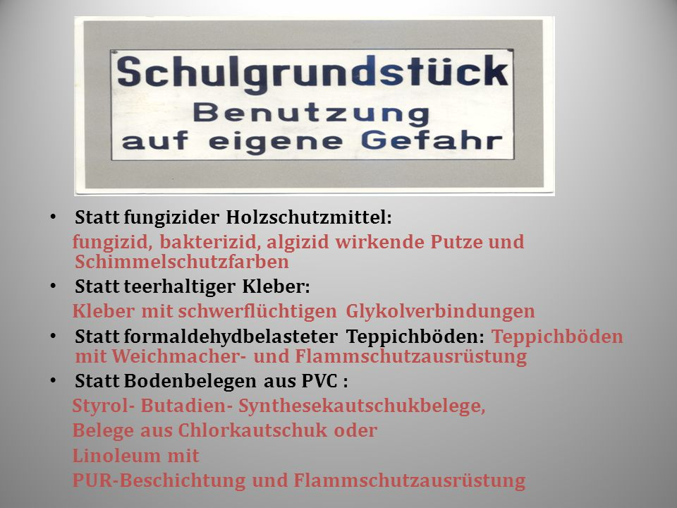 Statt fungizider Holzschutzmittel: