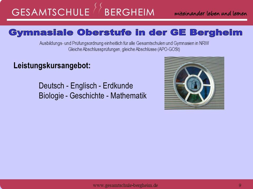 Gymnasiale Oberstufe in der GE Bergheim