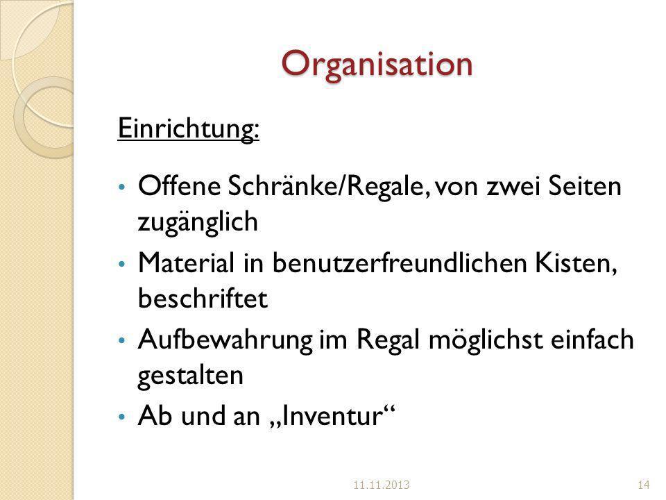 Organisation Einrichtung: