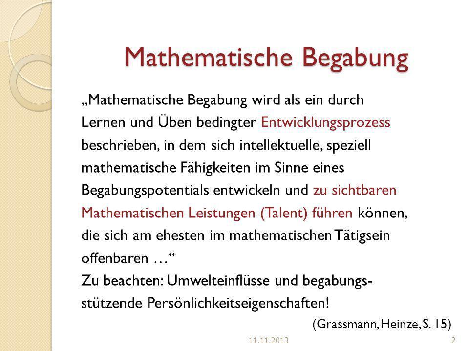 Mathematische Begabung