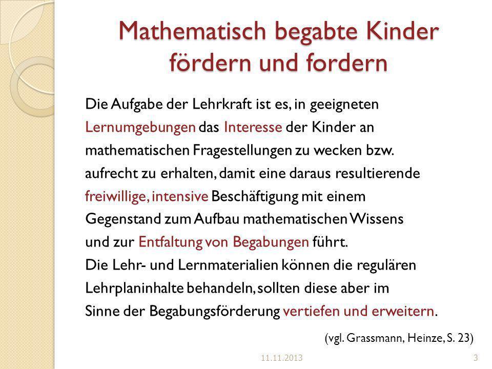 Mathematisch begabte Kinder fördern und fordern