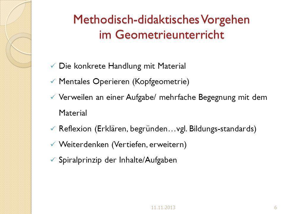 Methodisch-didaktisches Vorgehen im Geometrieunterricht
