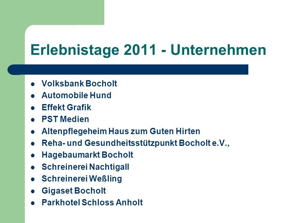 Erlebnistage 2011 - Unternehmen