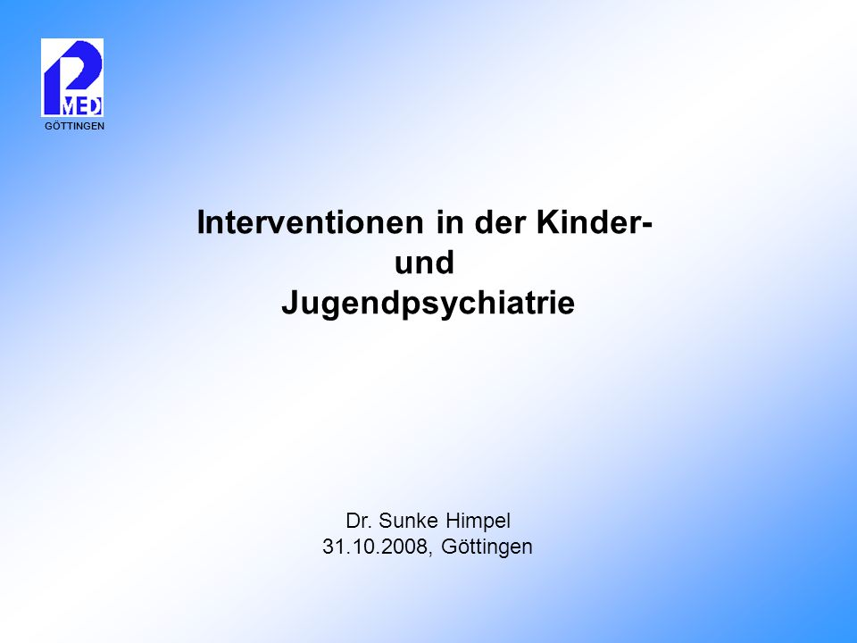 Interventionen in der Kinder-