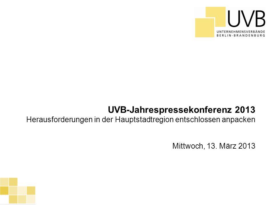 UVB-Jahrespressekonferenz 2013