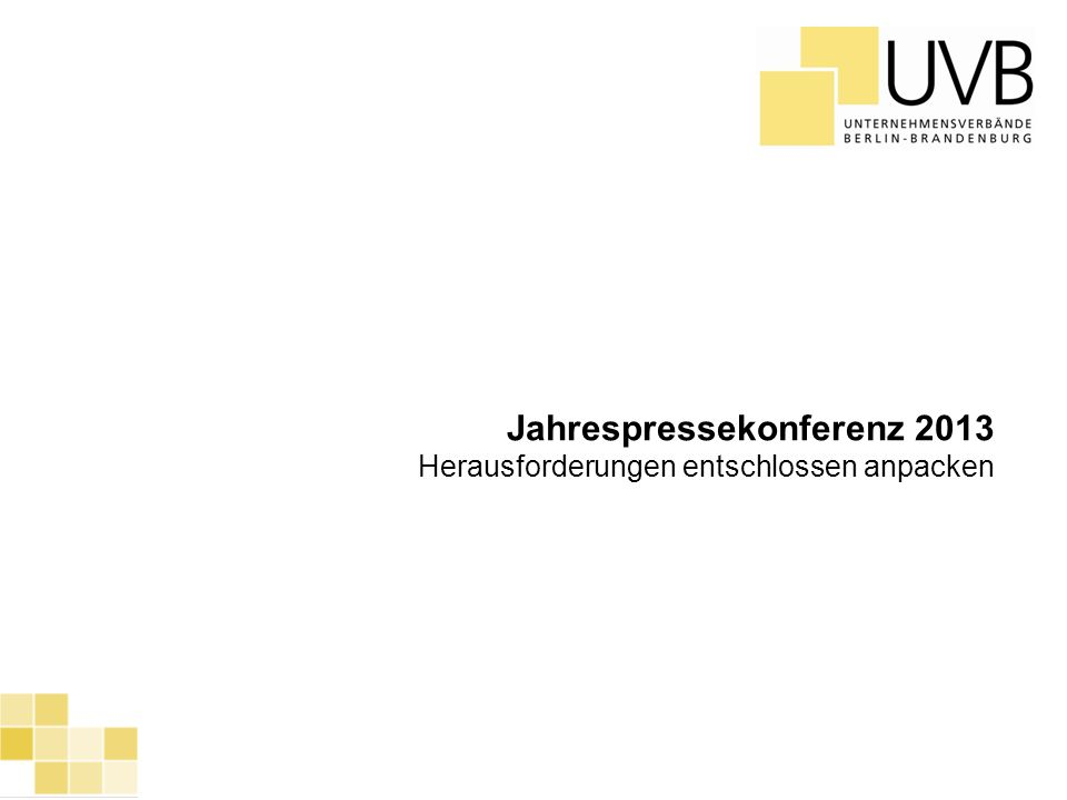 Jahrespressekonferenz 2013