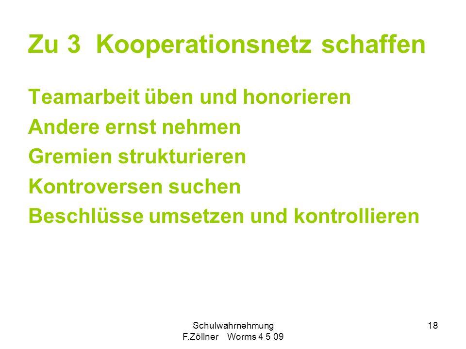 Zu 3 Kooperationsnetz schaffen