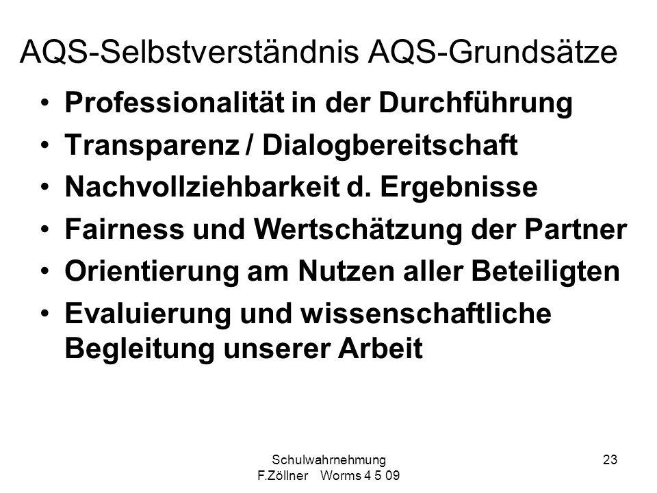AQS-Selbstverständnis AQS-Grundsätze
