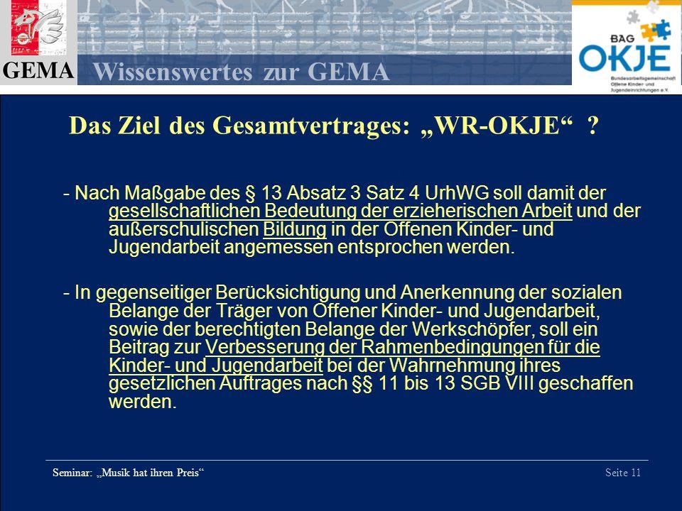 """Das Ziel des Gesamtvertrages: """"WR-OKJE"""