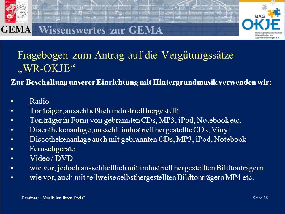 """Fragebogen zum Antrag auf die Vergütungssätze """"WR-OKJE"""