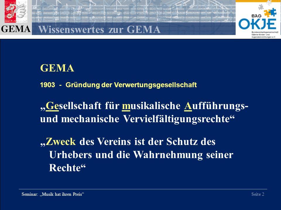 """GEMA - Gründung der Verwertungsgesellschaft. """"Gesellschaft für musikalische Aufführungs- und mechanische Vervielfältigungsrechte"""