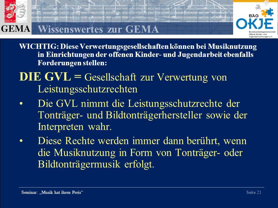 DIE GVL = Gesellschaft zur Verwertung von Leistungsschutzrechten