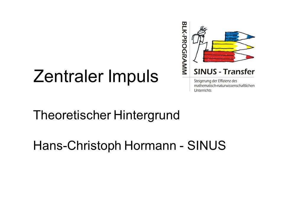 Theoretischer Hintergrund Hans-Christoph Hormann - SINUS