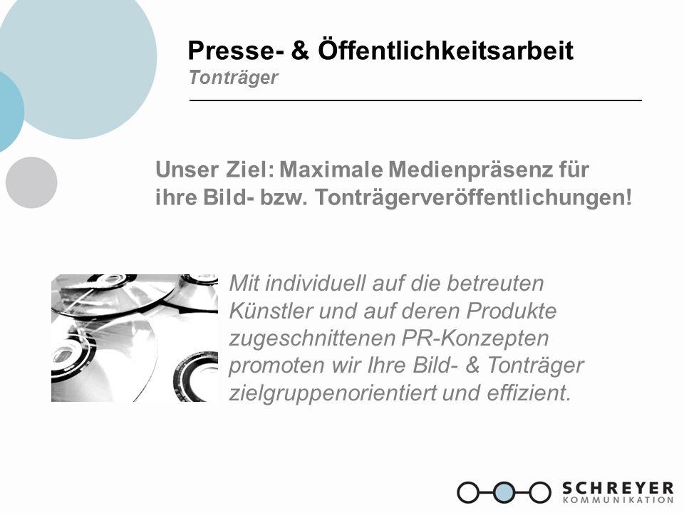 Presse- & Öffentlichkeitsarbeit Tonträger