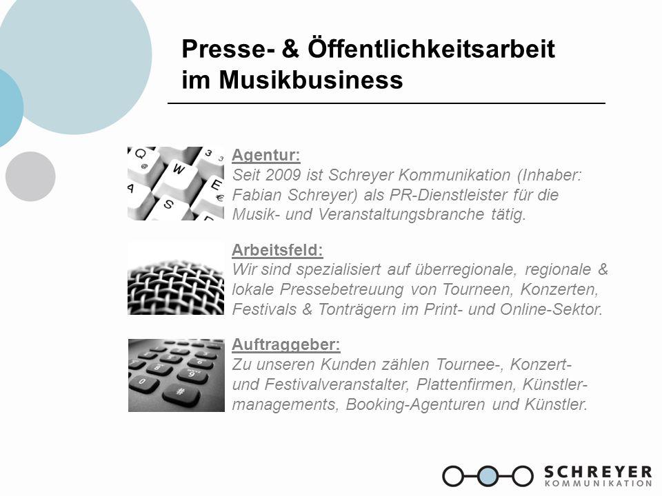 Presse- & Öffentlichkeitsarbeit im Musikbusiness