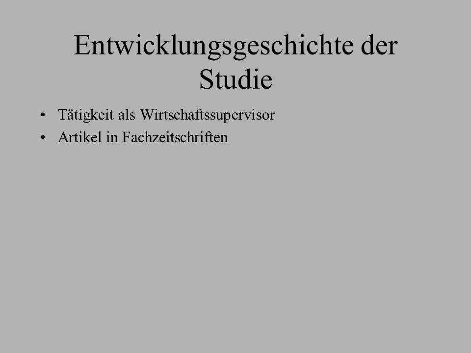 Entwicklungsgeschichte der Studie