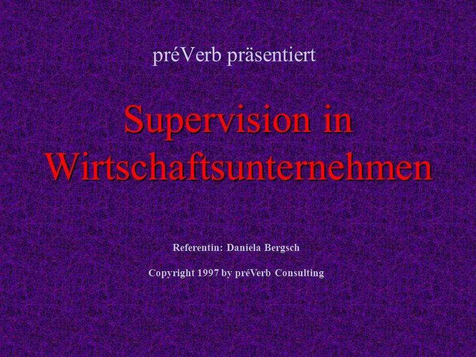 Supervision in Wirtschaftsunternehmen