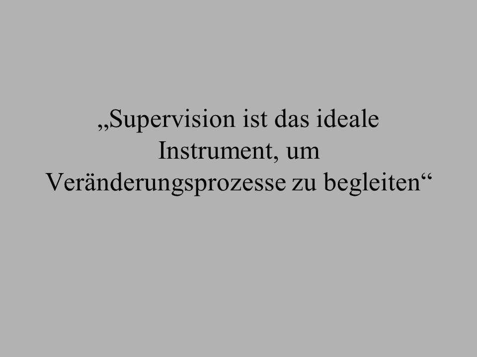 """""""Supervision ist das ideale Instrument, um Veränderungsprozesse zu begleiten"""