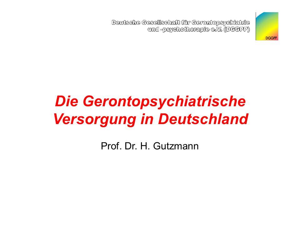 Die Gerontopsychiatrische Versorgung in Deutschland