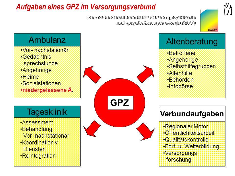 Aufgaben eines GPZ im Versorgungsverbund