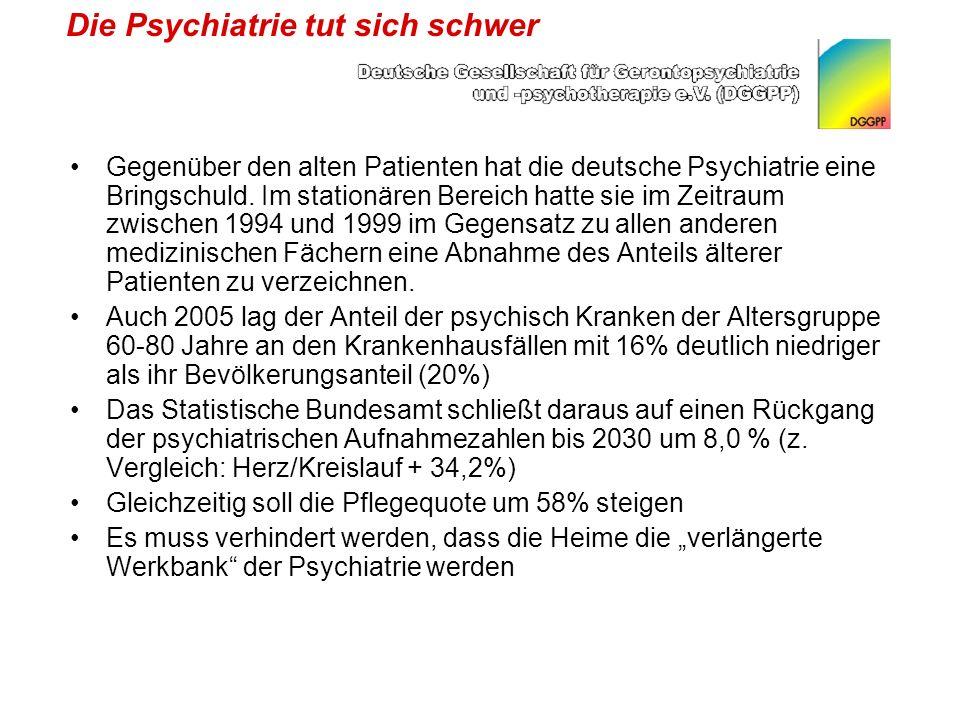 Die Psychiatrie tut sich schwer