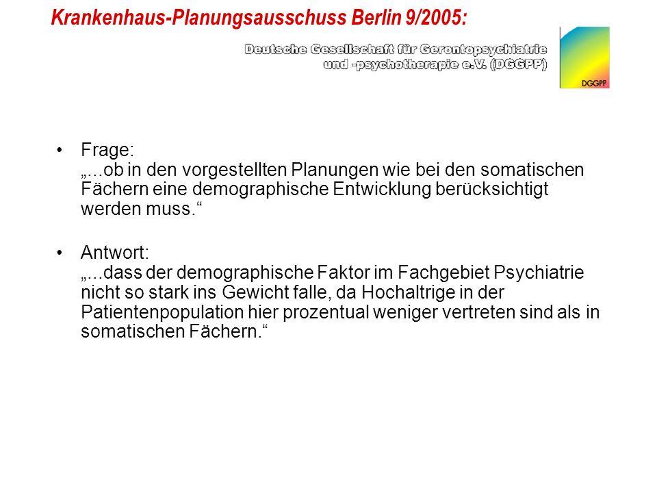 Krankenhaus-Planungsausschuss Berlin 9/2005: