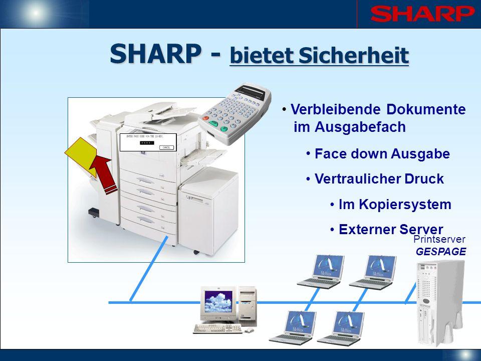 SHARP - bietet Sicherheit