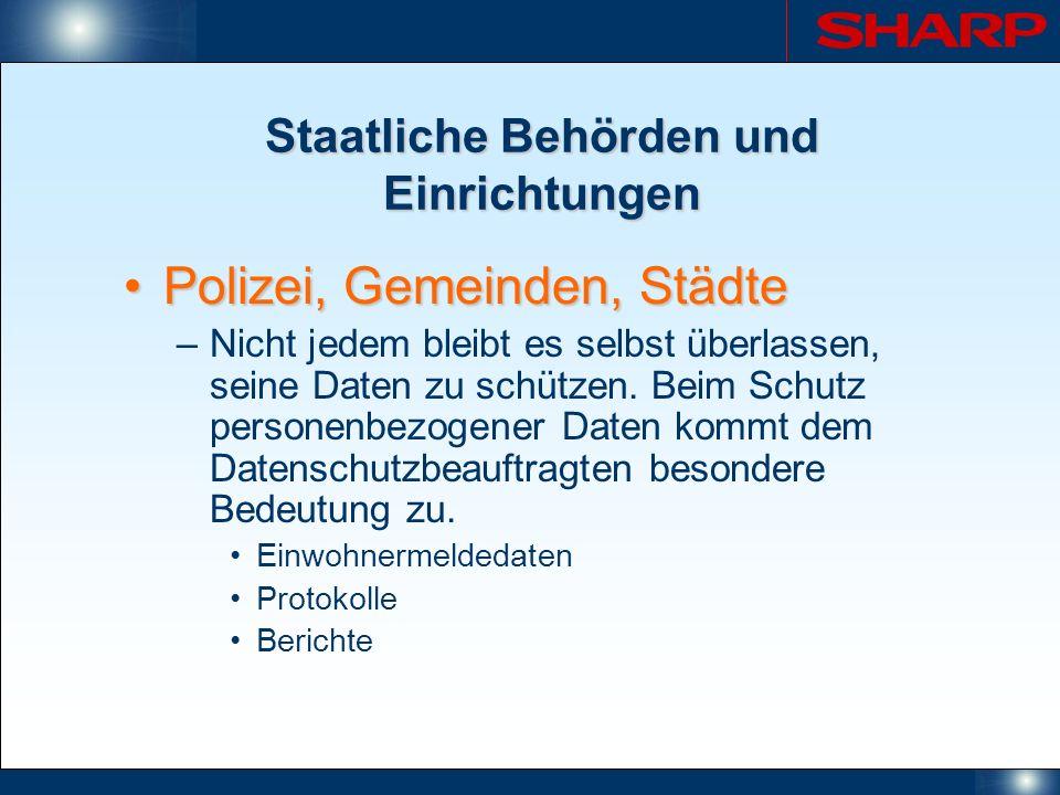 Staatliche Behörden und Einrichtungen