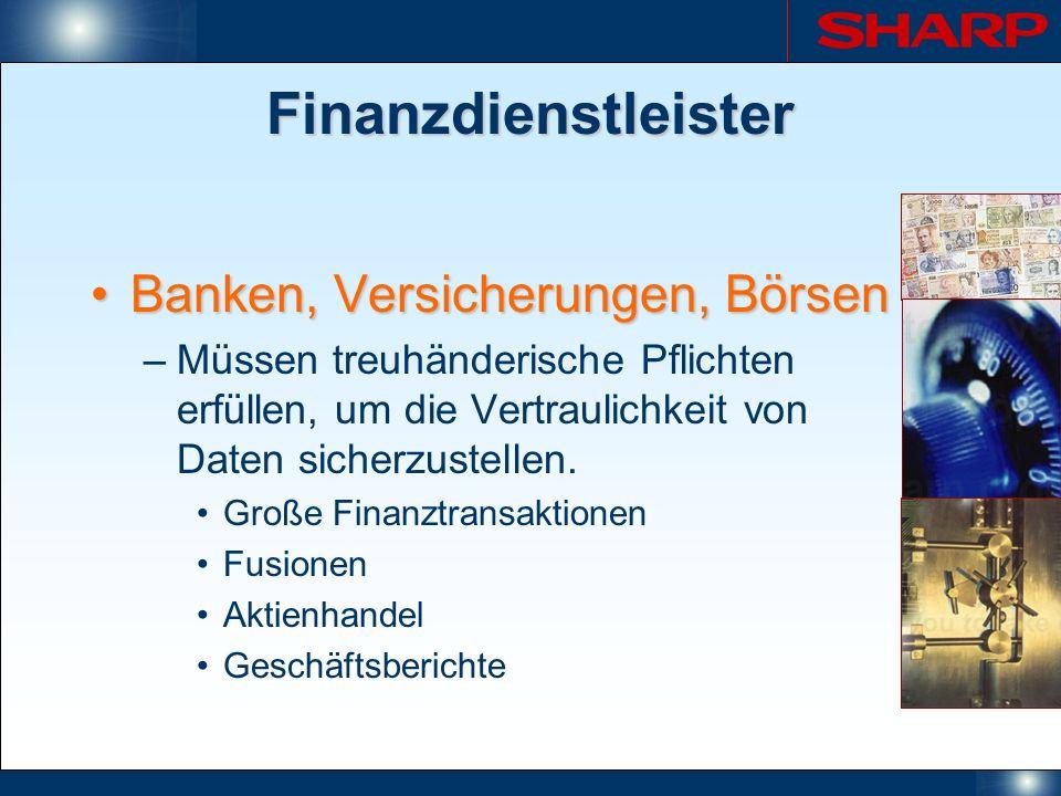 Finanzdienstleister Banken, Versicherungen, Börsen