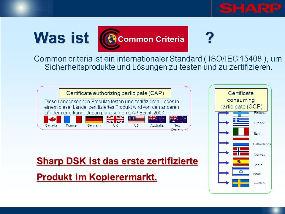 Was ist Sharp DSK ist das erste zertifizierte