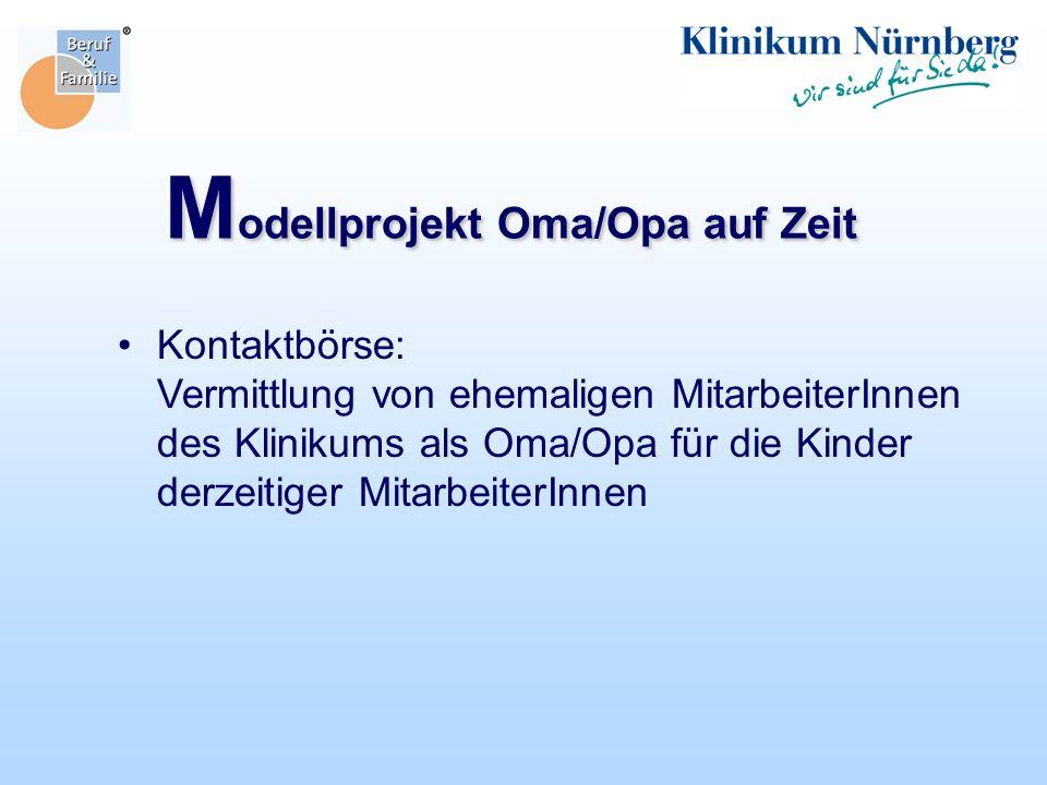 Modellprojekt Oma/Opa auf Zeit