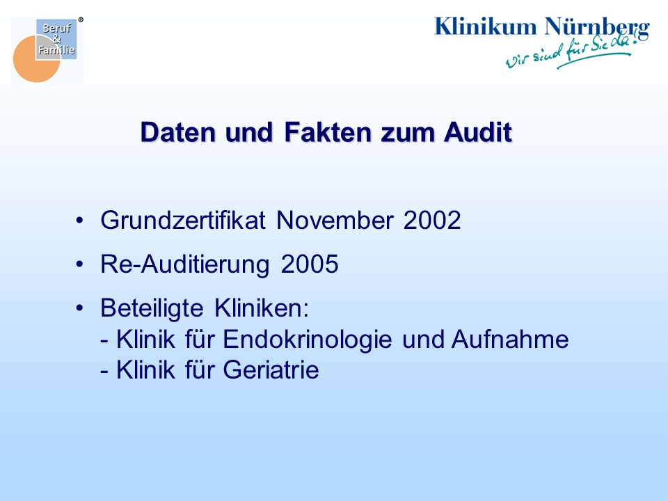 Daten und Fakten zum Audit