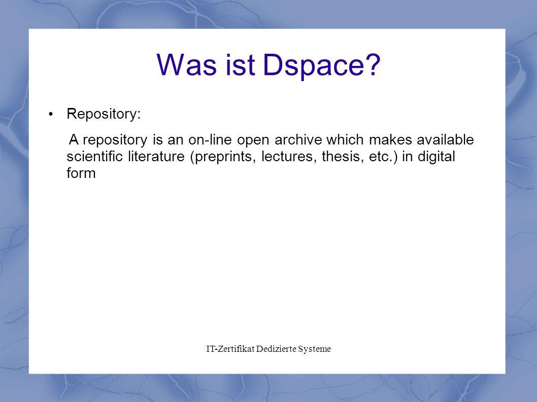 IT-Zertifikat Dedizierte Systeme