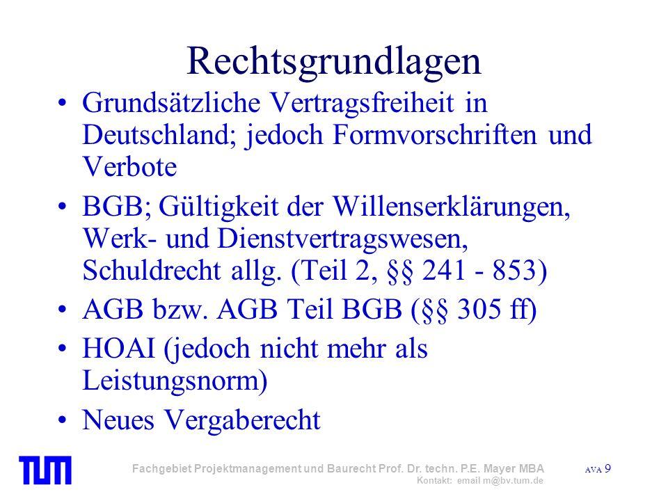 Rechtsgrundlagen Grundsätzliche Vertragsfreiheit in Deutschland; jedoch Formvorschriften und Verbote.