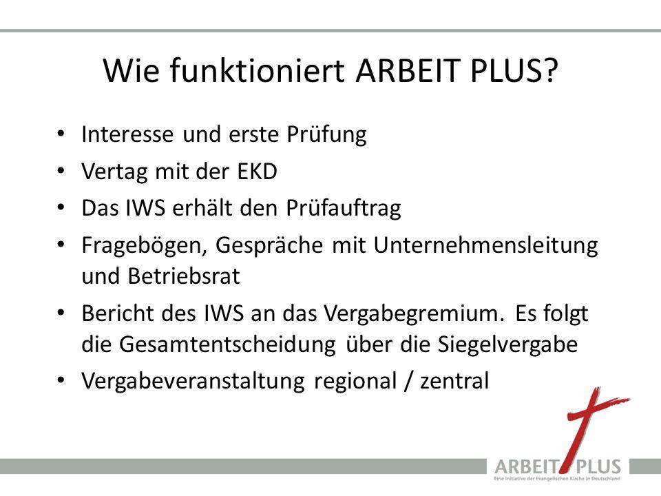 Wie funktioniert ARBEIT PLUS