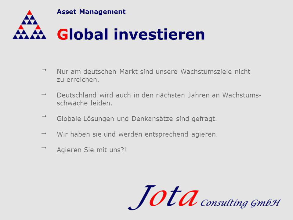 Global investieren Asset Management